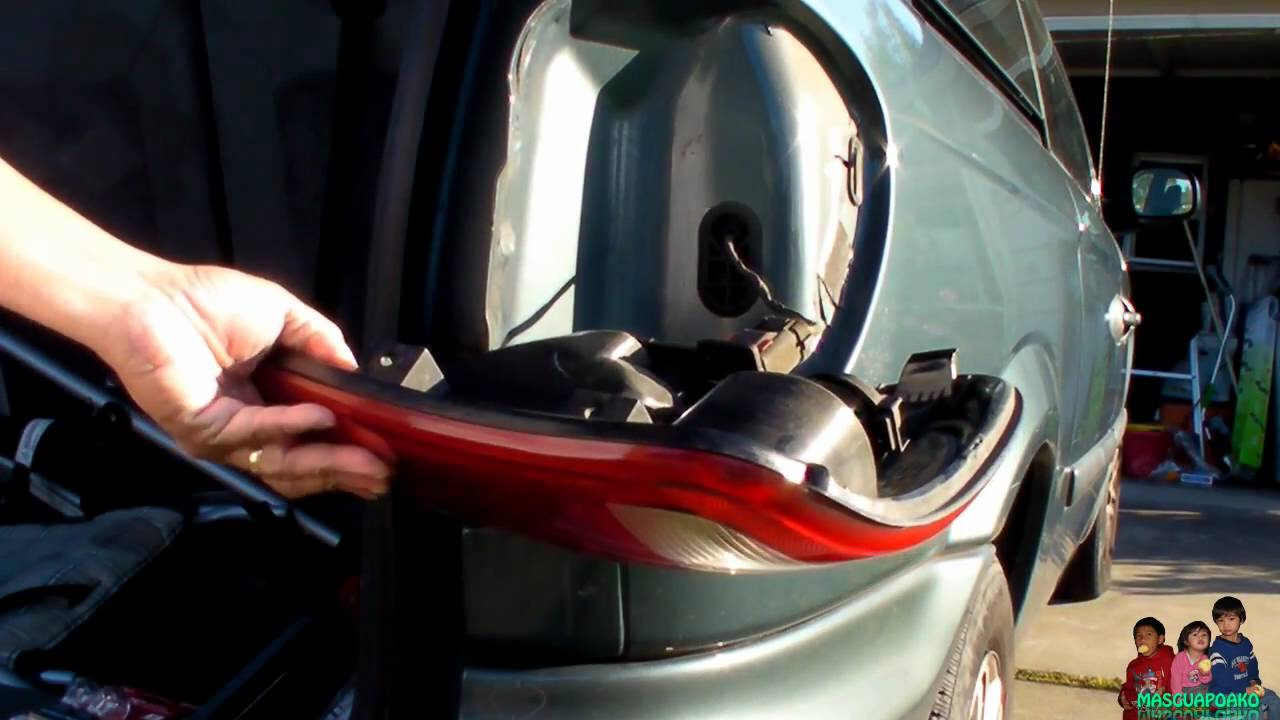 small resolution of how to replace a burnt out tail light bulb dodge caravan 2005 youtube