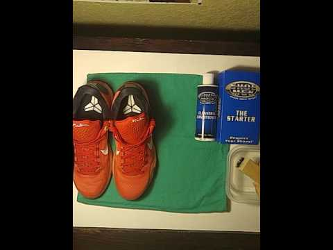 Cleaning Kobe 10 majors with shoe mgk cleaner