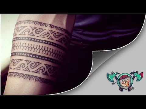 Polynesian / Samoan Bracelet Tattoo Timelapse