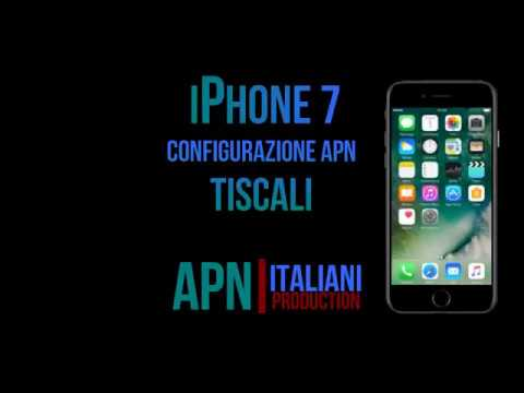 TISCALI Mobile configurazione apn internet iPhone7