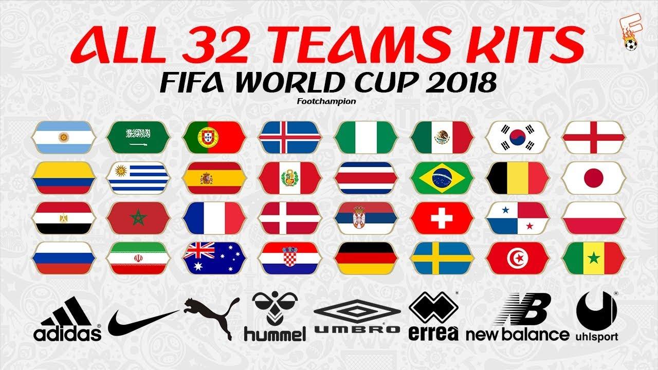 cd935f4771a All 32 Teams Kits FIFA World Cup 2018 ⚽ FIFA World Cup Jerseys ...