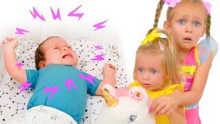 تتظاهر مايا بأن اللعب طفل صغير - أغنية أطفال لمايا وماري