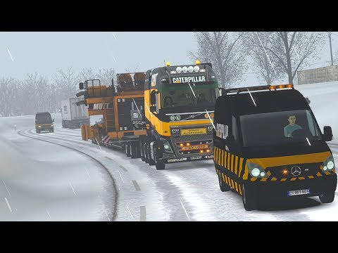 ETS2 1.30.2.2s (Special Transport DLC!!!) - Volvo FH16 8x4 - Reims (F) - Strasbourg (F)