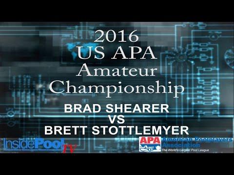 2016 U S  APA Amateur Championship Brad Shearer vs Brett Stottlemyer