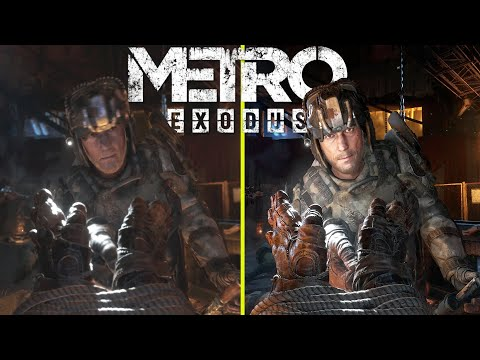 Metro Exodus Enhanced Edition vs Original RTX 3080 Ray Tracing ON 4K Graphics Comparison