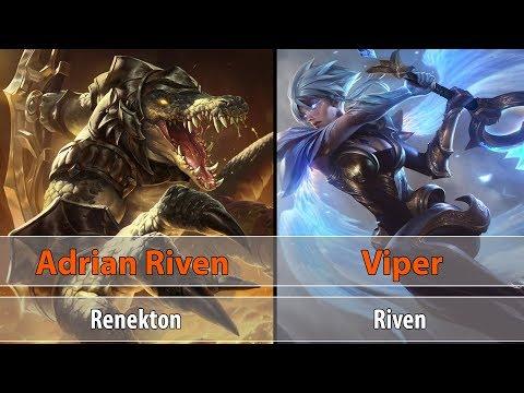 [ Adrian Riven ] Renekton vs Riven [ Viper ] Top - challenge Rank