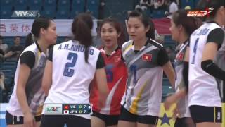 Viet Nam Vs Japan   5th Place   2015 Asian Women's Volleyball Championship