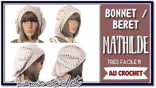 Comment faire un béret / bonnet pour femme au crochet, tuto , pas à pas , debutantes
