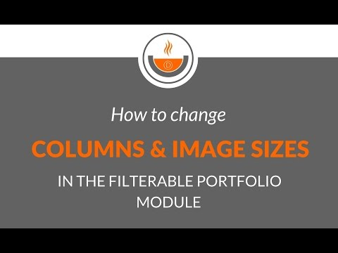 Divi Tutorial - Recipe #27 - How to Change Columns & Images in the Filterable Portfolio Module