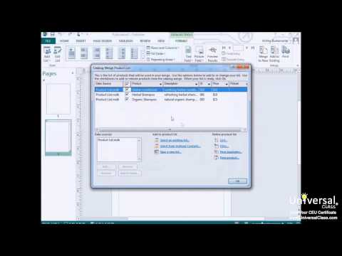 Creating a Catalog in Microsoft Publisher 2013