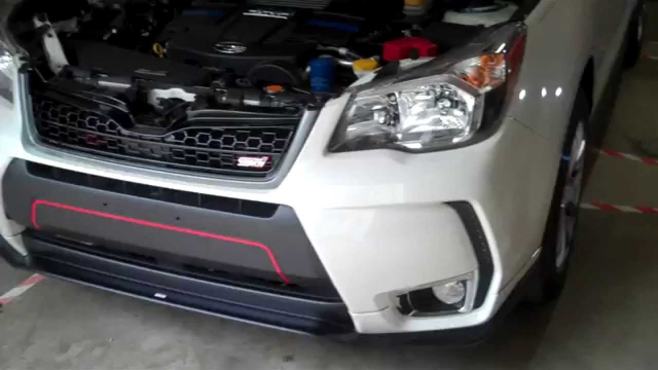 2014 Forester XT with JDM Pink Springs