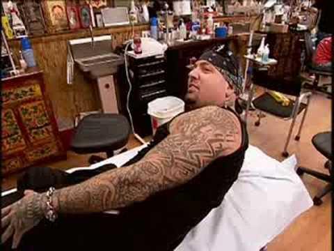 Miami Ink - Biohazard Flaming Skull Tattoo