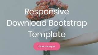 Download Bootstrap Template - Free HTML Website Templates