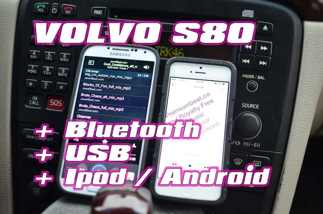 VOLVO S80 2004 USB IPOD BLUETOOTH by AUTOTOYS COM GROM AUDIO - YouTube