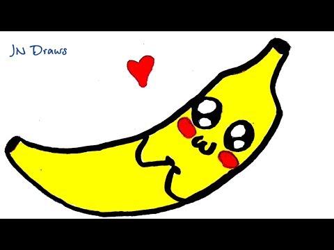 Как рисуется банан
