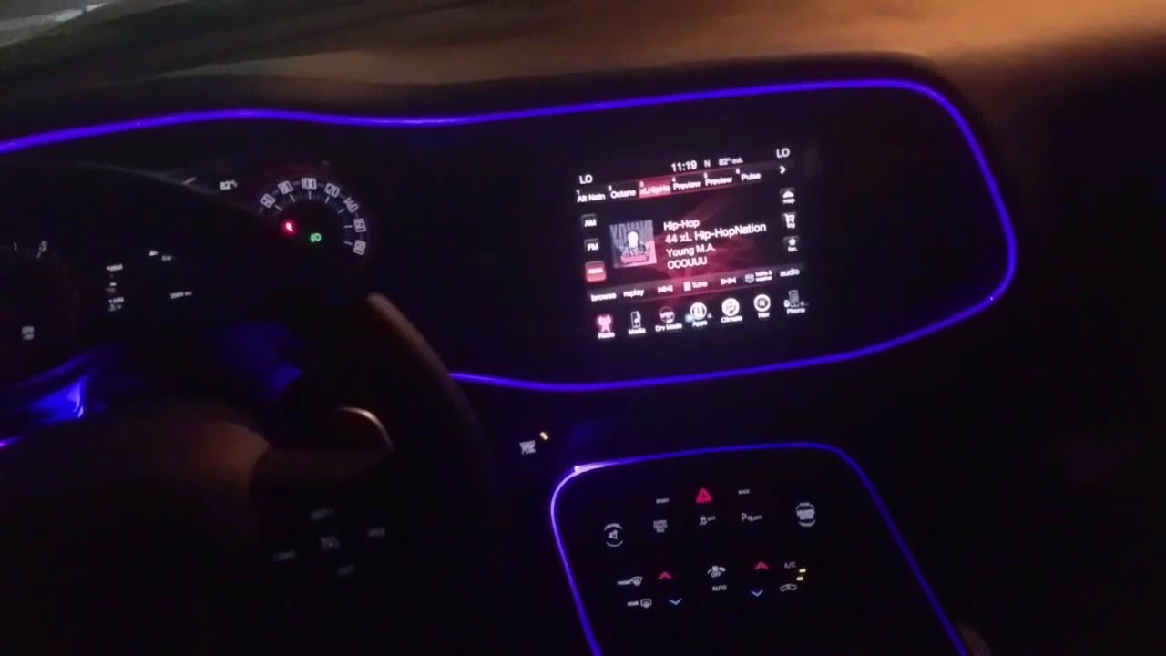2016 Challenger Scatpack New Interior Lights Youtube