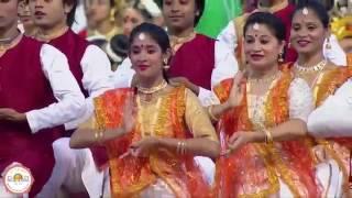 Kathak by 1700 dancers    Padma Vibushan Pt  Briju Maharaj 世界文化節中卡薩克舞蹈演春