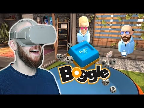PLAYING BOGGLE AND HANGING OUT IN VIRTUAL REALITY!! Oculus Rooms Oculus Go Gameplay With Nathie