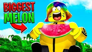 I ATE THE WORLD'S BIGGEST WATERMELON.. (Roblox)