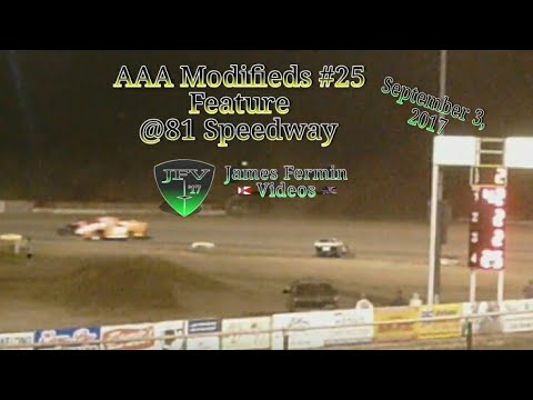 AAA Modifieds #29, Feature, 81 Speedway, 2017