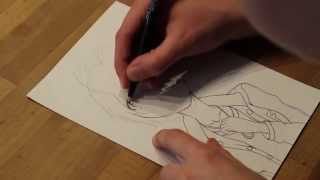 Speed Drawing: FUURI from Super Sonico the Animation I Sketch & Outlines I CHOKOREY