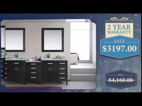 92-inch-double-sink-bathroom-vanity-with-carerra-marble-top---uniquevanities.com