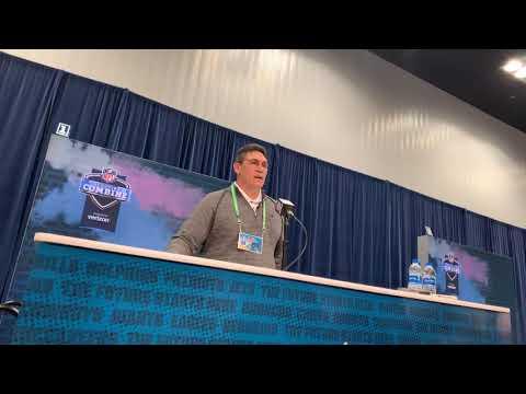 Ron Rivera Washington Redskins Head Coach Interview At NFL Combine 2020