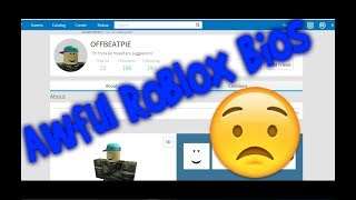Checking out WEIRD roblox bios!