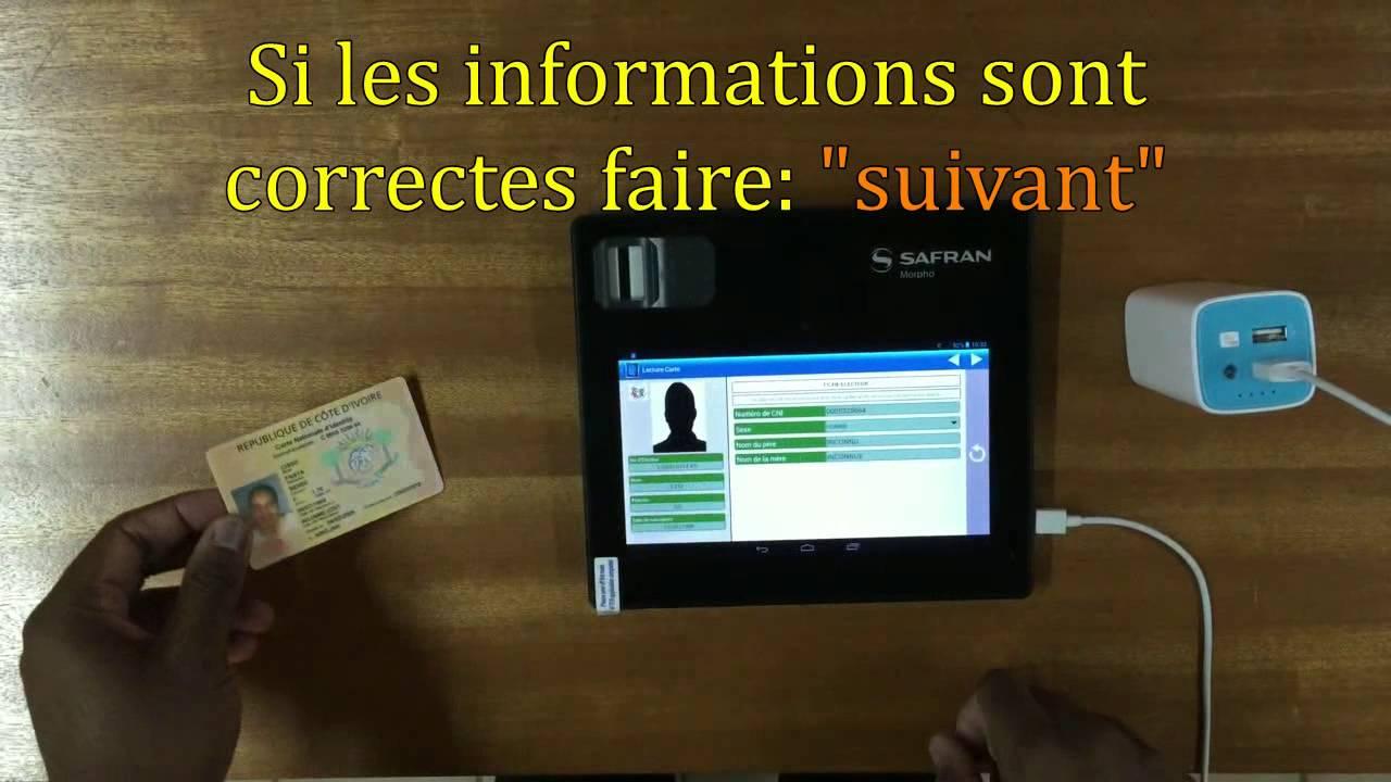 Faire Une Verification Biometrique Avec Carte Nationale Identite