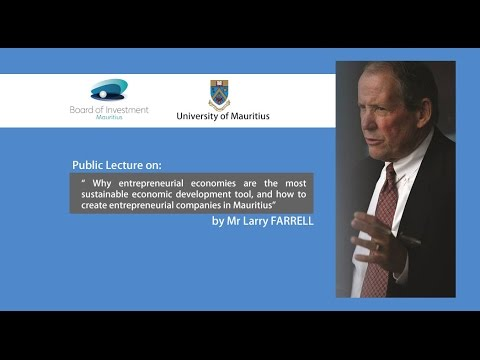 Talk by Mr Larry Farrell at University of Mauritius