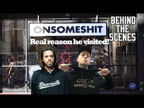 J Cole Reveals The REAL REASON He Visited Adam22 At His Store!