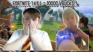FORTNITE 1 KILL = 10000 VBUCKS!?!?