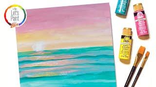 Let's Paint Live - Summer Sunset