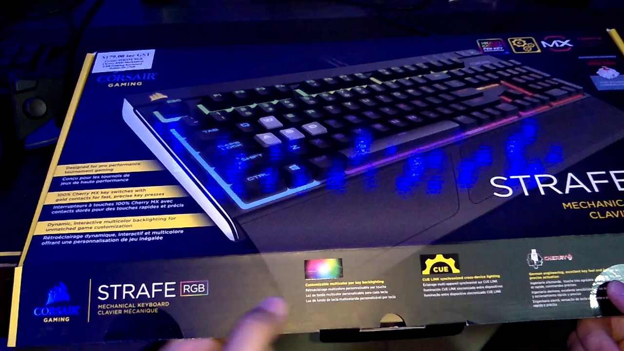 Corsair Strafe Rgb Cherry Mx Red Full Keyboard Unboxing Youtube Gaming