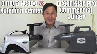 greenstar pro vs omega nc800 juicer comparison review
