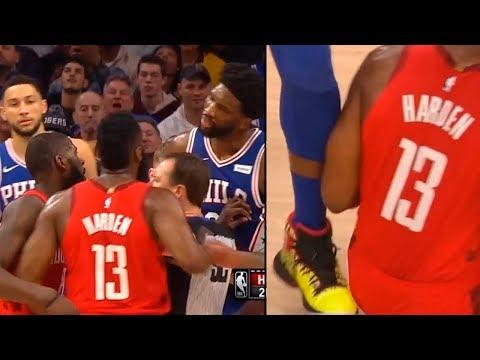 James Harden wanna fight Joel Embiid after he is kicks his ass | Rockets vs Sixers