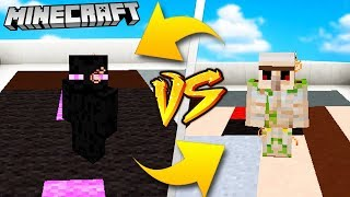 ENDERMAN VS IRON GOLEM - MINECRAFT | Vito VS Bella