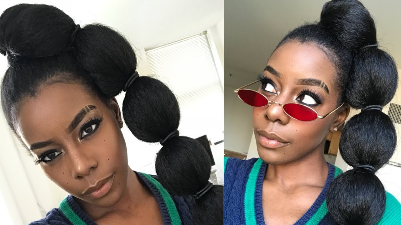 3 New Ponytail Styles For Naturals Using Braiding Hair Youtube