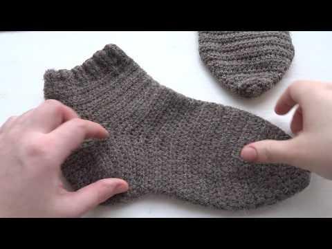 Носки вязание крючком носки мужские