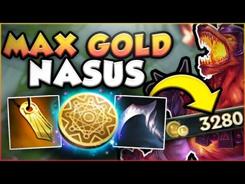 WTF RIOT?! MAX GOLD GENERATOR NASUS IS COMPLETELY BROKEN! NASUS TOP GAMEPLAY! - League of Legends
