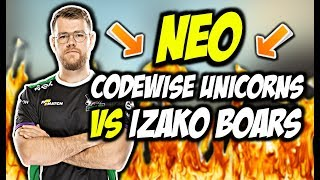 NEO W SKŁADZIE CODEWISE UNICORNS VS IZAKO BOARS NEEX AWP BEAST CRITY ON FIRE CSGO BEST MOMENTS