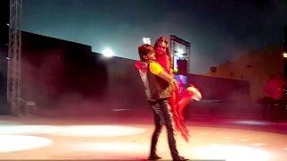 nisha dubey arvind akela kallu live performance at doha qatar part 1