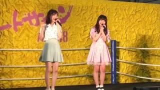 シュートサインの握手会で行われた、気まぐれオンステージで福岡聖菜と...