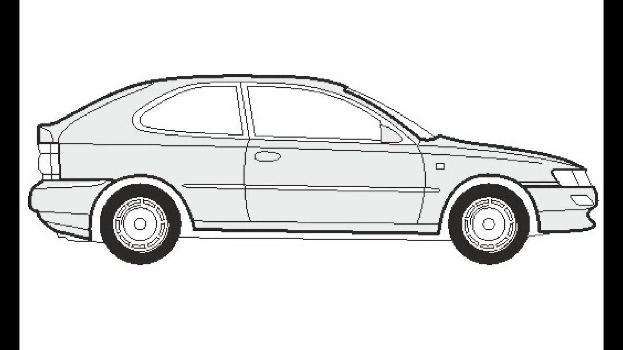 How To Draw A Toyota Corolla Compact