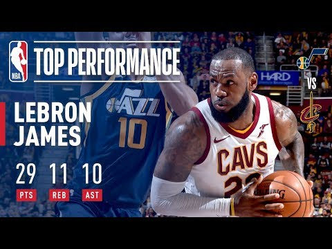 Download Youtube: LeBron James Passes Larry Bird For Most Career Triple Doubles  vs The Utah Jazz