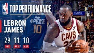 LeBron James Passes Larry Bird For Most Career Triple Doubles  vs The Utah Jazz