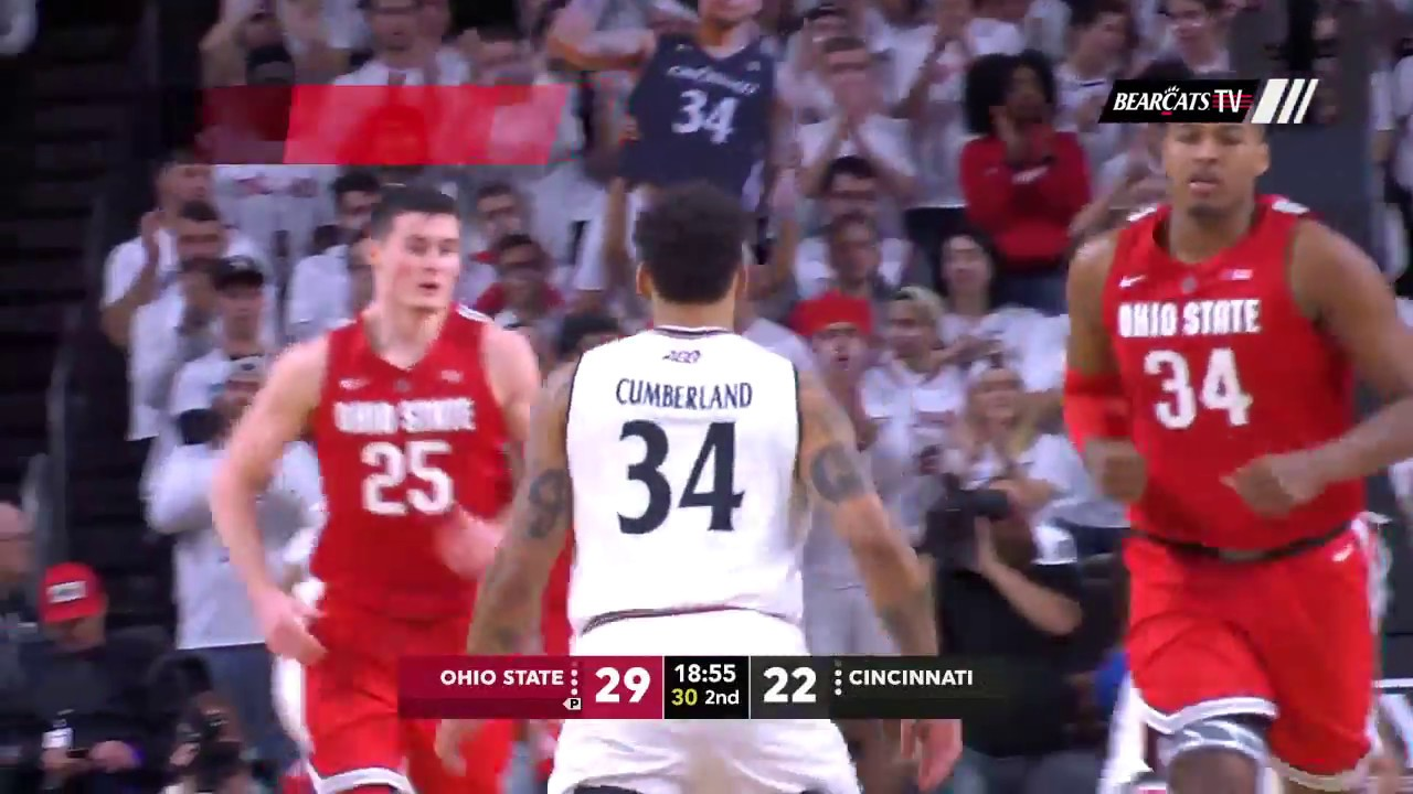 men's basketball highlights: cincinnati 56, ohio state 64 (courtesy