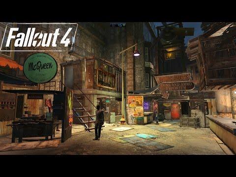 Fallout 4 Hangman's Alley Market Settlement Tour