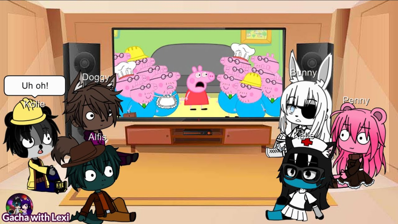 |Gacha Club| 🐷 More Funniest Peppa and Roblox Piggy Animation Memes Reaction | Kolie and Katie skins