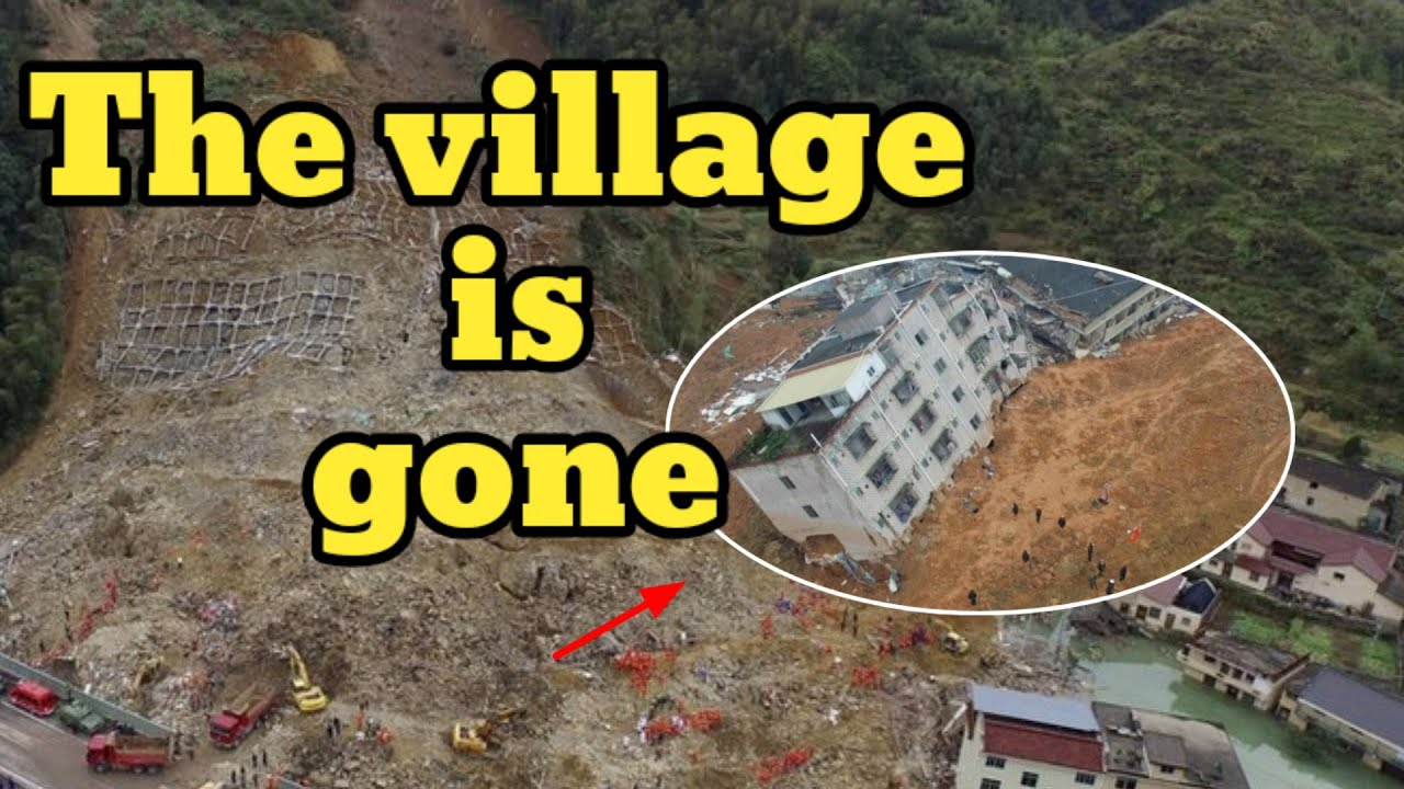 Terrible landslide in China buried a mountain village